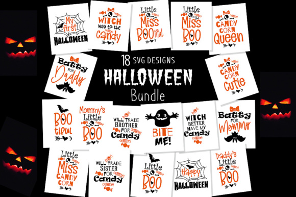 Download Free Halloween Bundle Graphic By Danieladoychinovashop Creative Fabrica for Cricut Explore, Silhouette and other cutting machines.