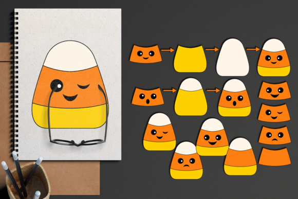 Download Free Halloween Candy Corn Diy Graphic By Darrakadisha Creative Fabrica for Cricut Explore, Silhouette and other cutting machines.