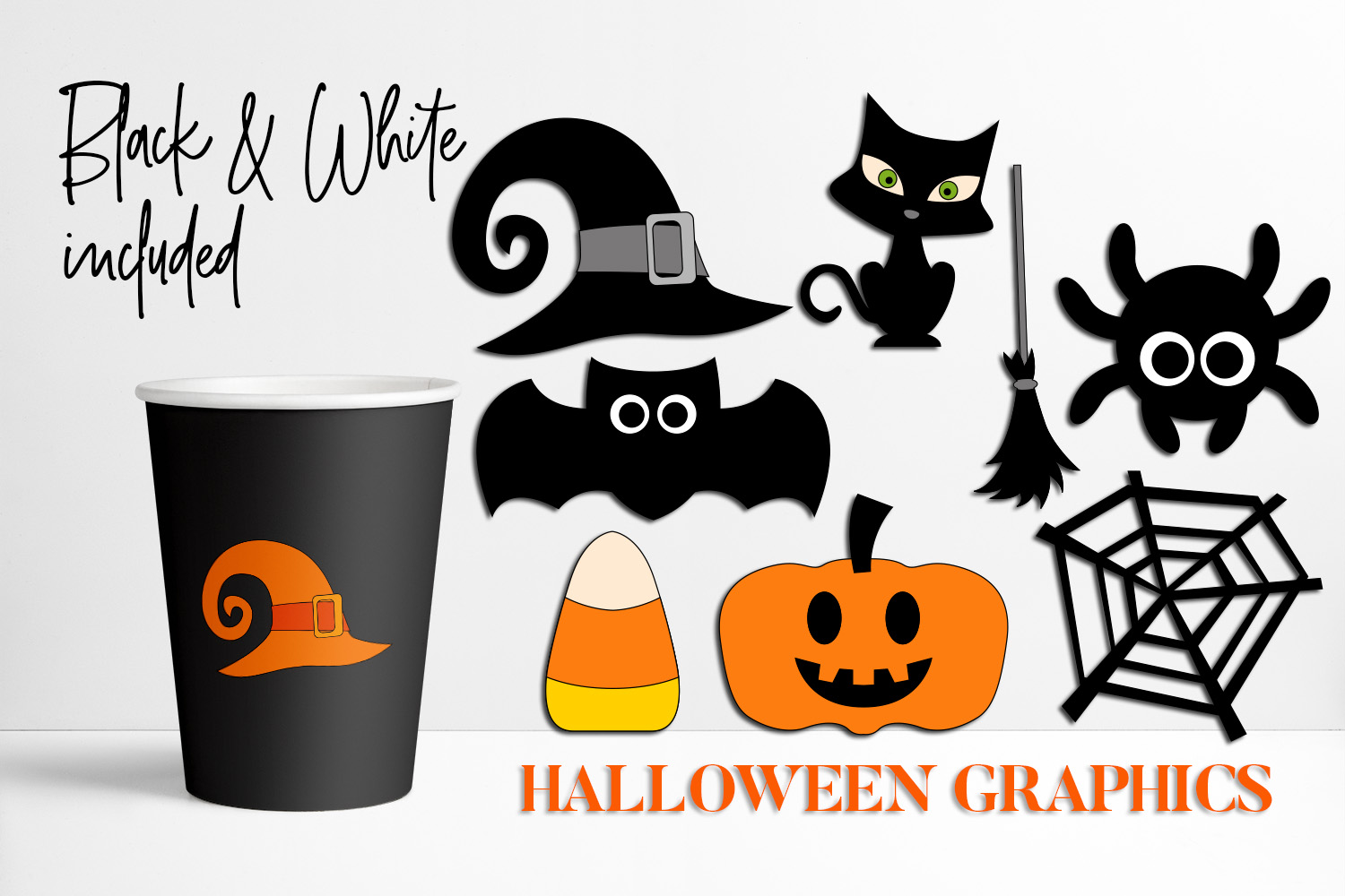 Halloween Decor Objects Graphic By Darrakadisha Creative Fabrica