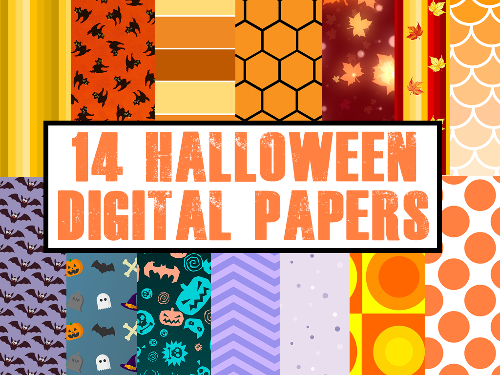 Download Free Halloween Digital Papers Graphic By Quiet Deluxe Digital for Cricut Explore, Silhouette and other cutting machines.