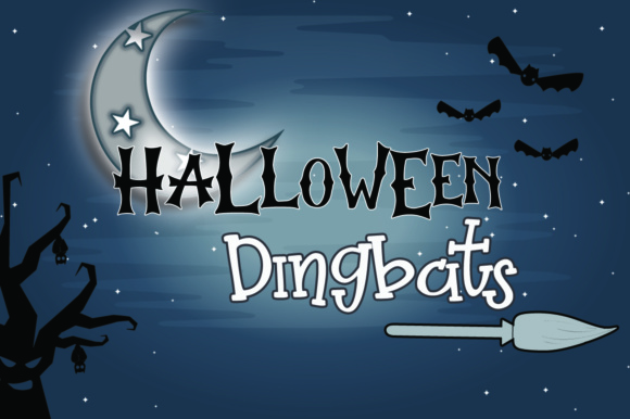 Print on Demand: Halloween Dingbats Dingbats Font By dmletter31
