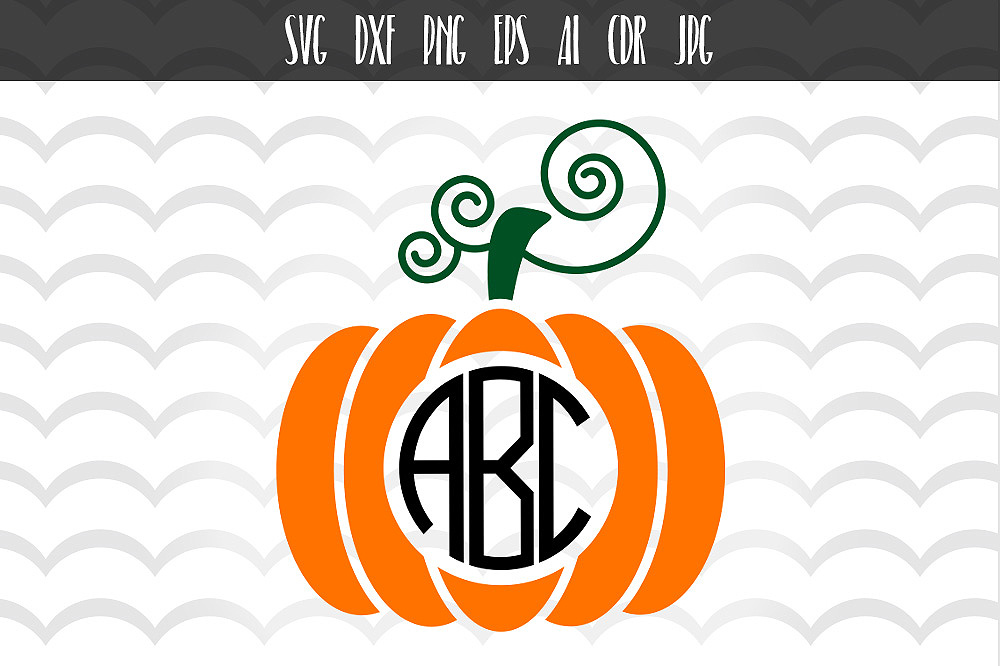 Download Free Halloween Fall Pumpkin Monogram Svg Graphic By Vector City SVG Cut Files