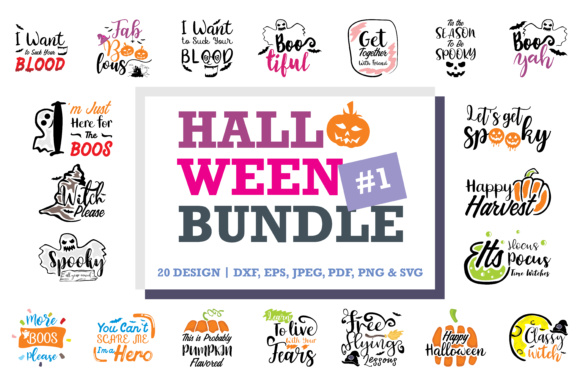Print on Demand: Halloween Quotes Bundle Graphic Crafts By TheLucky