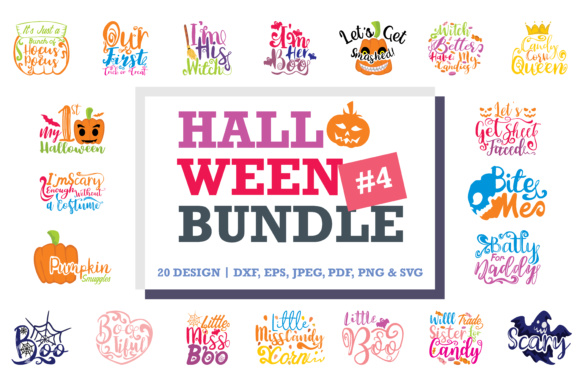 Print on Demand: Halloween Quotes Bundle Grafik Designvorlagen von TheLucky