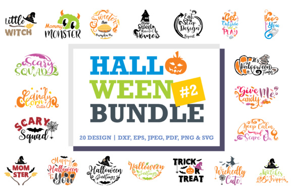 Print on Demand: Halloween Quotes Bundle Gráfico Crafts Por TheLucky