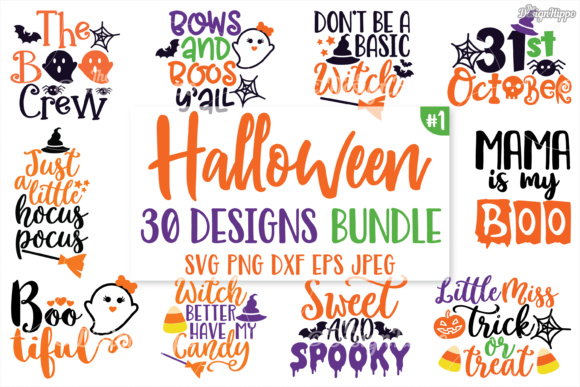 Download Free Halloween Bundle Graphic By Thedesignhippo Creative Fabrica for Cricut Explore, Silhouette and other cutting machines.