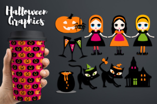 Halloween Sisters Graphic By Revidevi