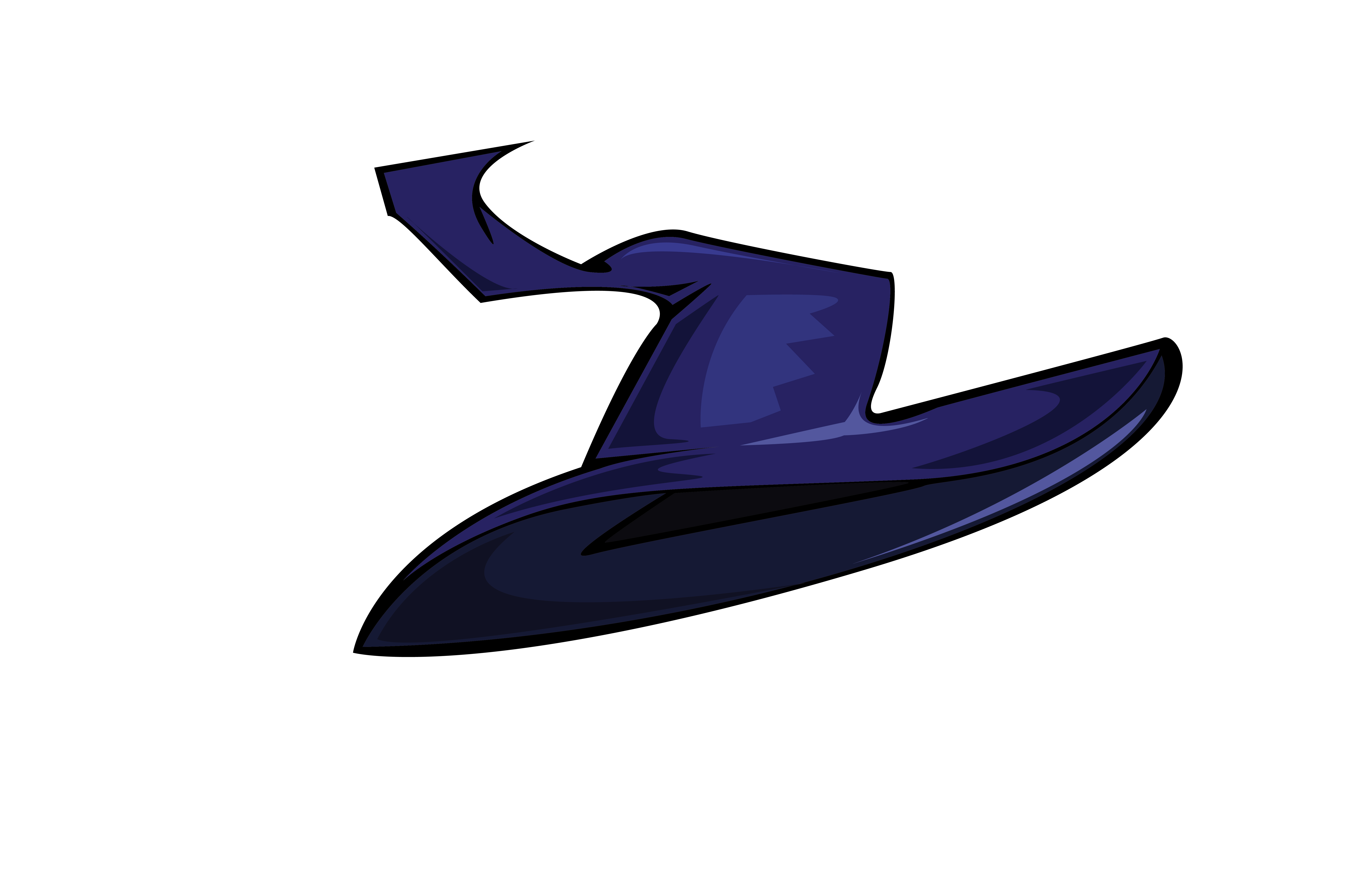 Halloween Vector Wizard Hat Blue Graphic By Rfg Creative Fabrica