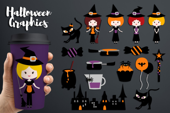 Print on Demand: Halloween Witch Graphic Illustrations By Revidevi