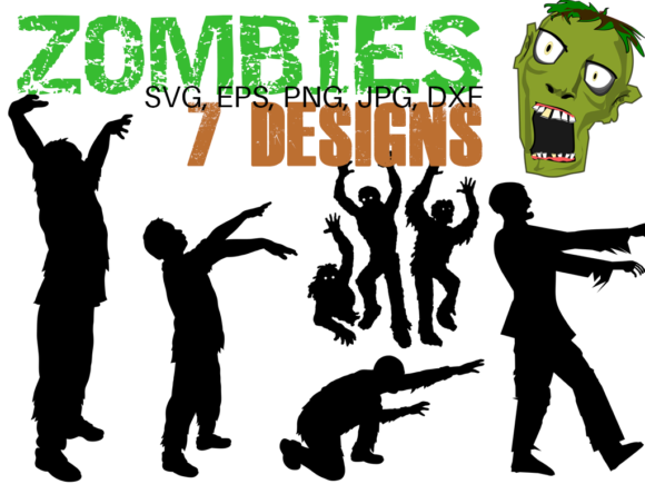 Print on Demand: Halloween Zombies Bundle - Dead Inside! Graphic Illustrations By Quiet Deluxe Digital