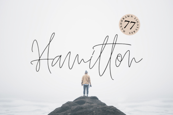 Print on Demand: Hamilton Script & Handwritten Font By Dmitrii Chirkov