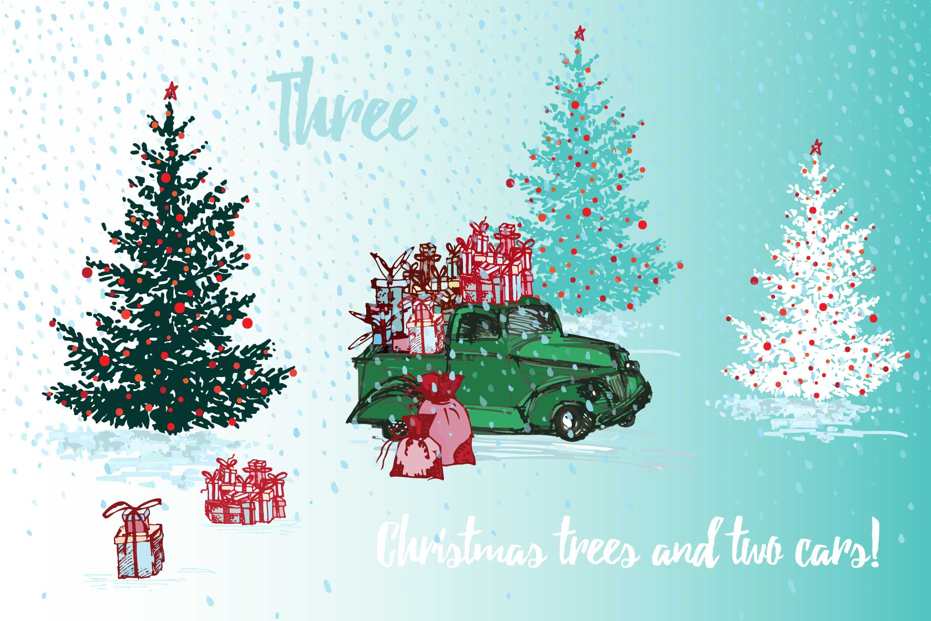 Download Free Hand Drawn Christmas Scratches Graphic By Z Zajka Creative Fabrica for Cricut Explore, Silhouette and other cutting machines.