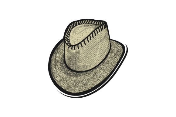 Download Free Hand Drawn Hat Cowboy Logo Graphic By Yahyaanasatokillah for Cricut Explore, Silhouette and other cutting machines.
