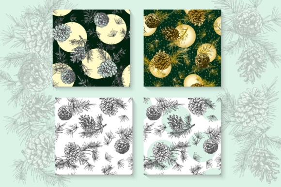 Download Free Hand Drawn Sketch Fir With Pine Cones Graphic By Z Zajka for Cricut Explore, Silhouette and other cutting machines.