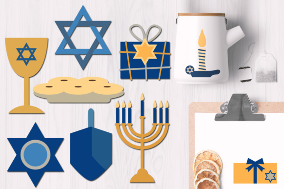 Print on Demand: Hanukkah Graphics Graphic Illustrations By Revidevi