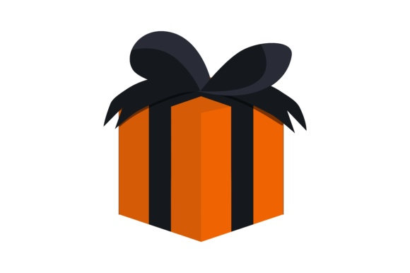 Happy Birthday Gift Black And Orange