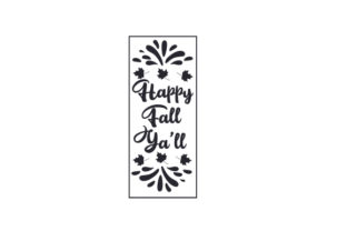 Happy Fall Y'all Porch Signs Craft Cut File By Creative Fabrica Crafts