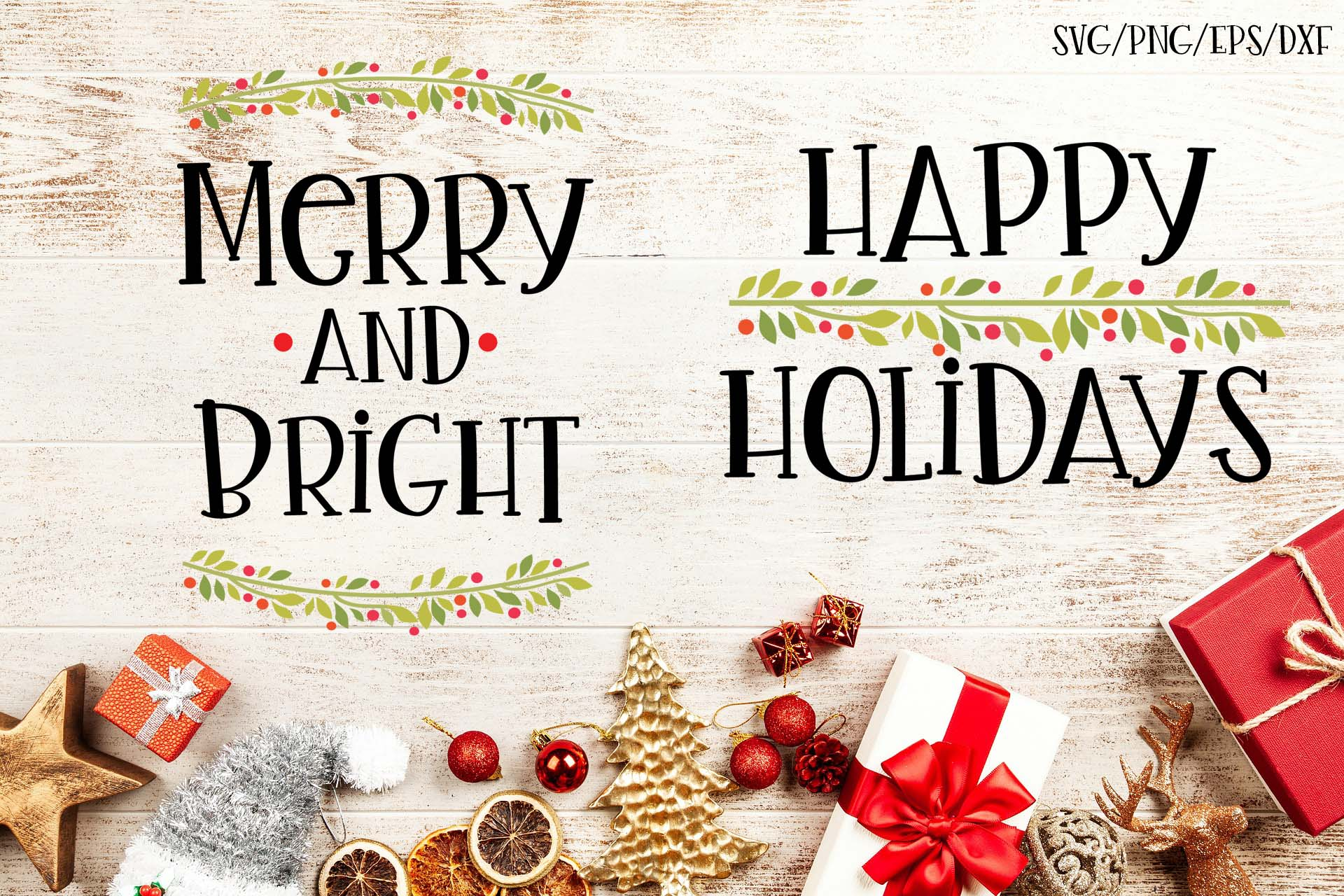 Download Free Happy Holidays Set Of 2 Christmas Svgs Graphic By Sheryl Holst for Cricut Explore, Silhouette and other cutting machines.