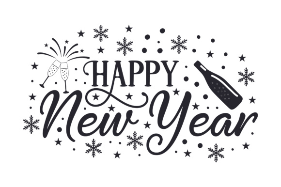 Happy New Year New Year's Craft Cut File By Creative Fabrica Crafts - Image 2