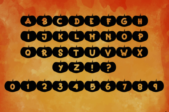 Print on Demand: Happy Pumpkins Decorative Font By dmletter31 - Image 5