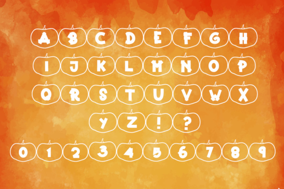 Print on Demand: Happy Pumpkins Decorative Font By dmletter31 - Image 6
