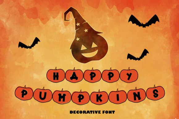 Print on Demand: Happy Pumpkins Decorative Font By dmletter31