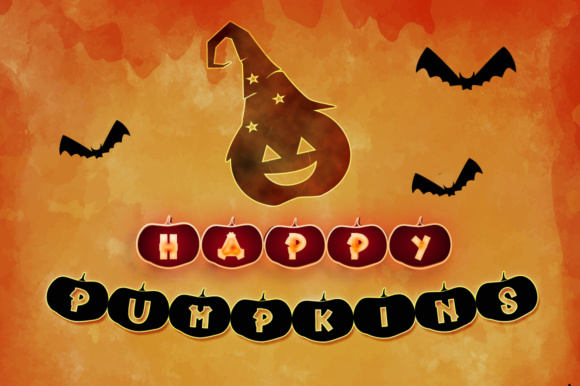 Print on Demand: Happy Pumpkins Decorative Font By dmletter31 - Image 8