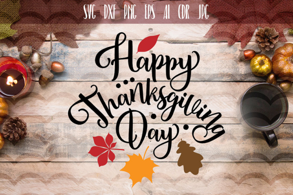 Download Free Happy Thanksgiving Day Svg Graphic By Vector City Skyline for Cricut Explore, Silhouette and other cutting machines.