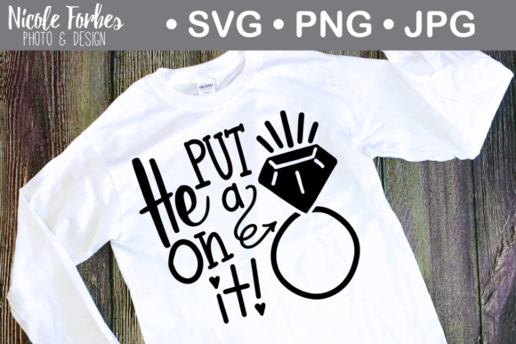 Download Free He Put A Ring On It Svg Cut File Grafico Por Nicole Forbes for Cricut Explore, Silhouette and other cutting machines.