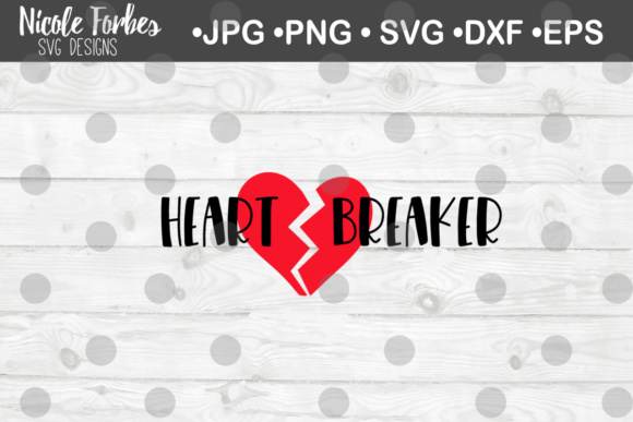 Download Free Heart Breaker Cut File Graphic By Nicole Forbes Designs for Cricut Explore, Silhouette and other cutting machines.