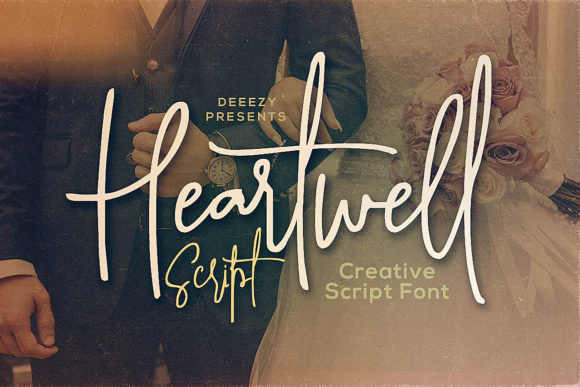 Print on Demand: Heartwell Script Manuscrita Fuente Por JumboDesign