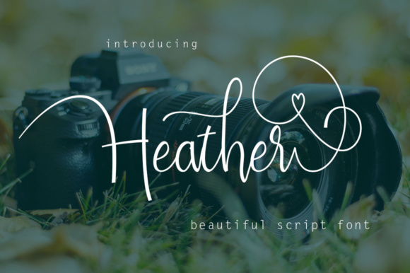Print on Demand: Heather Script & Handwritten Font By Rudistudio