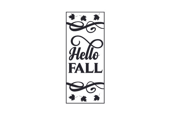Hello Fall Porch Signs Craft Cut File By Creative Fabrica Crafts