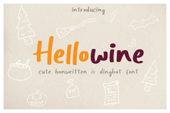 Print on Demand: Hellowine Display Font By craftsupplyco