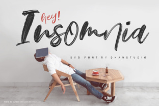 Print on Demand: Hey Insomnia Color Fonts Font By Dhan Studio