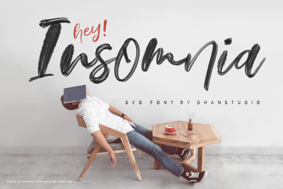Print on Demand: Hey Insomnia Color Fonts Font By Dhan Studio - Image 1