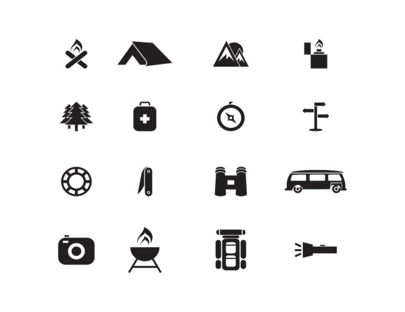 Download Free Hiking And Camping Icons Set Vector Grafico Por Meisuseno for Cricut Explore, Silhouette and other cutting machines.