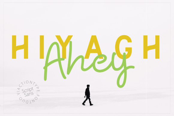 Print on Demand: Hiyagh Ahey Script & Handwritten Font By Viaction Type.Co