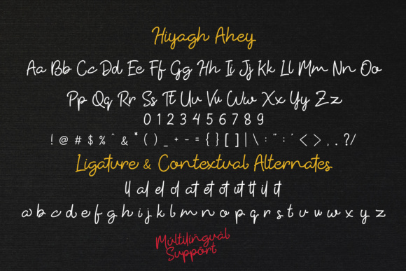 Print on Demand: Hiyagh Ahey Script & Handwritten Font By Viaction Type.Co - Image 7