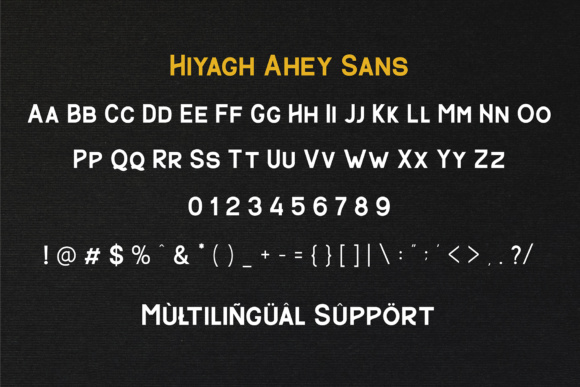 Print on Demand: Hiyagh Ahey Script & Handwritten Font By Viaction Type.Co - Image 8