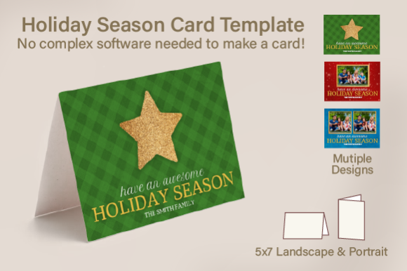 Holiday Season Card Template Graphic Graphic Templates By Inspire Graphics