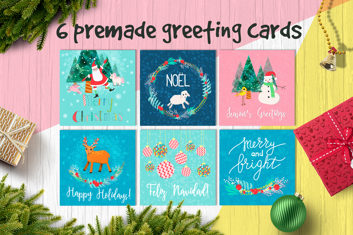 Download Free Holly Night Christmas Set Of Goodies Graphic By Elenachooart for Cricut Explore, Silhouette and other cutting machines.