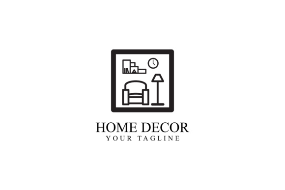 Print on Demand: Home Decoration Design Graphic Logos By sabavector