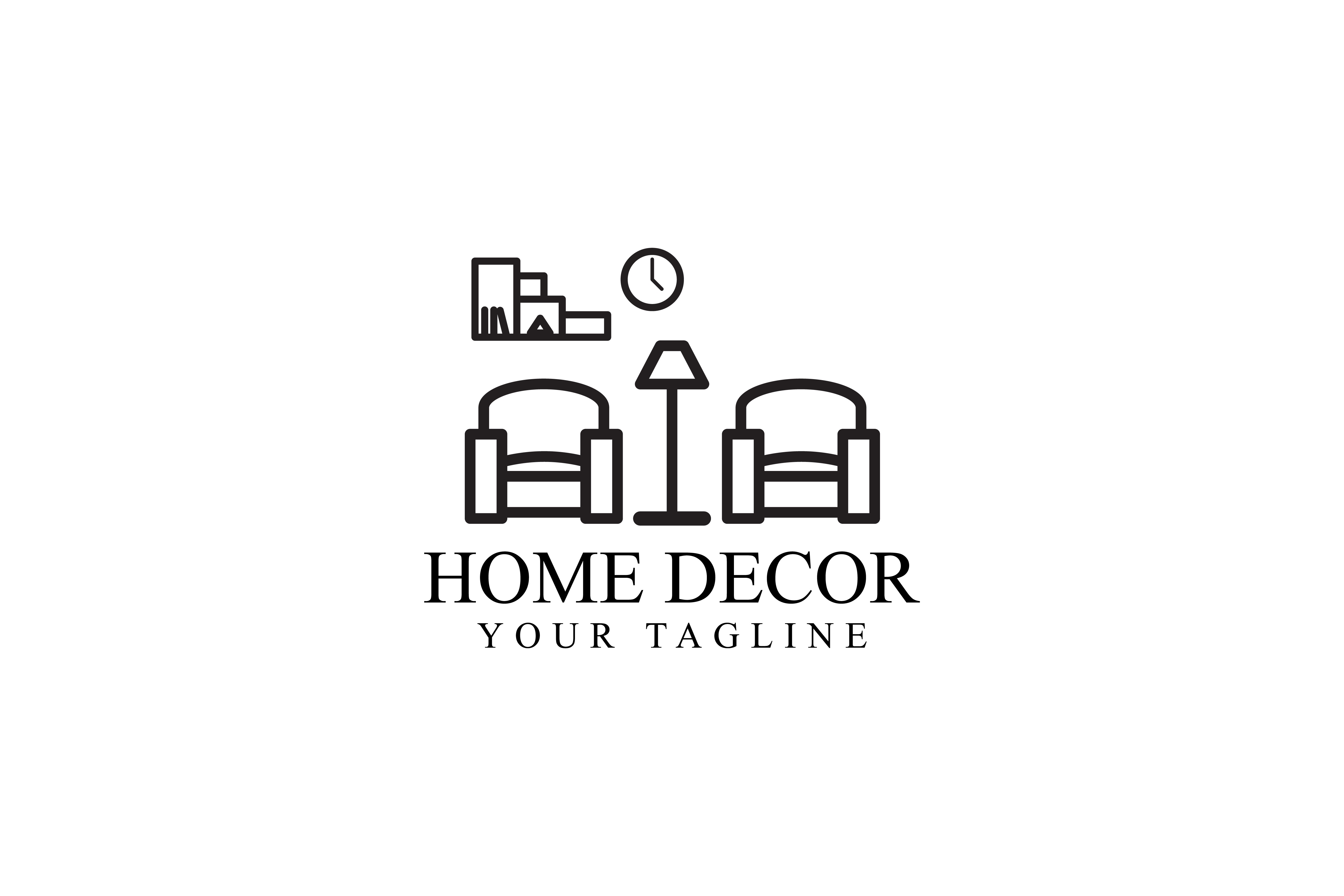 Download Free Home Decoration Design Graphic By Sabavector Creative Fabrica for Cricut Explore, Silhouette and other cutting machines.