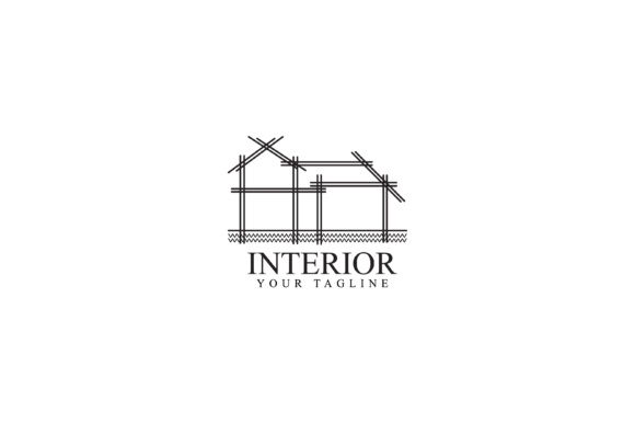 Print on Demand: Home Interior Design Graphic Logos By sabavector