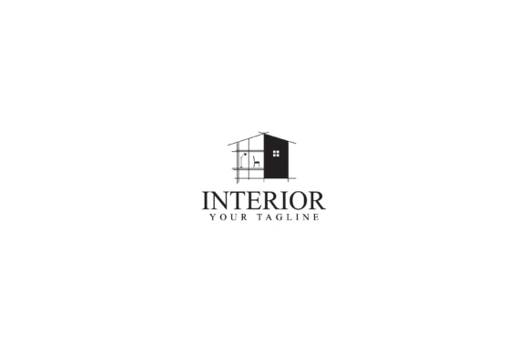 Download Free Home Interior Logo Design Grafico Por Sabavector Creative Fabrica for Cricut Explore, Silhouette and other cutting machines.