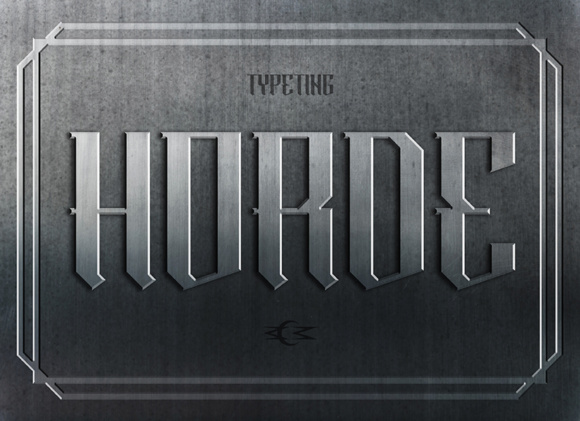 Print on Demand: Horde Blackletter Font By Typeting Studio