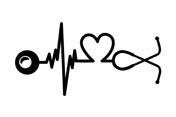 Download Free Horizontal Stethoscope That Creates A Heartbeat With A Heart Svg for Cricut Explore, Silhouette and other cutting machines.