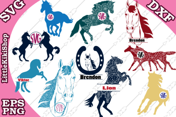 Download Free Horse Graphic By Littlekikishop Creative Fabrica for Cricut Explore, Silhouette and other cutting machines.