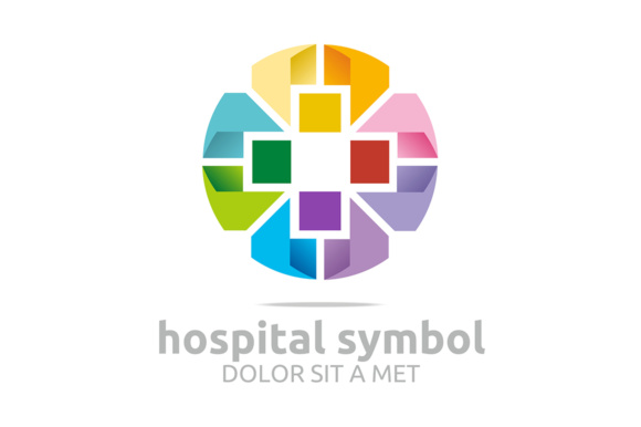 Hospital Symbol Logo Graphic By Acongraphic